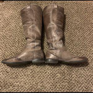 Grayish Brown Frye Boots Paige